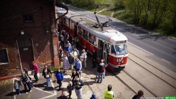592. Urodziny Łodzi z historycznym tramwajem i autobusami